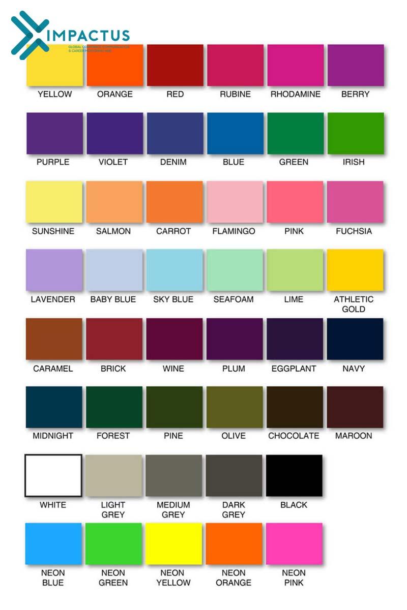 50 màu sắc tiếng Anh chi tiết