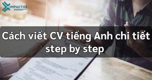 Hướng dẫn cách viết CV tiếng Anh chi tiết