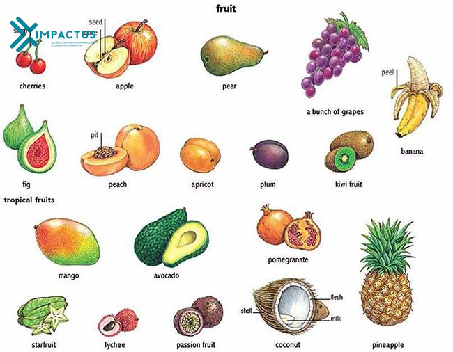 Tiếng Anh hoa quả