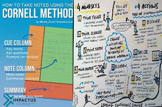 Kết hợp hai phương pháp ghi chép Cornell và Sketchnote hiệu quả