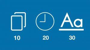 10 slides - 20 phút - Không quá 30 chữ cho một slide